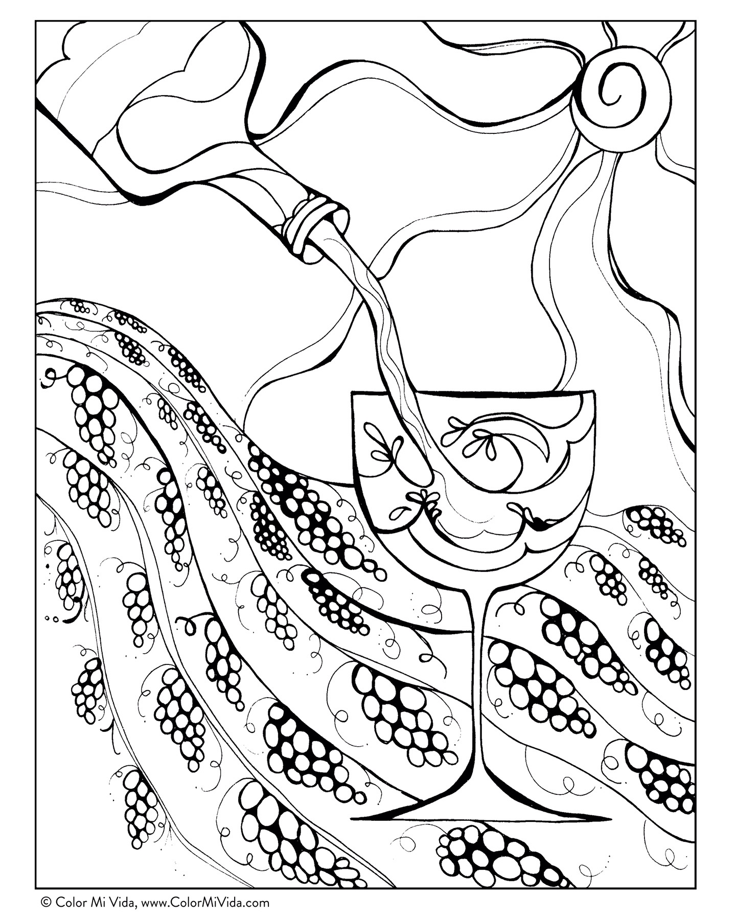 September Coloring Contest FREE Download In The Northern Hemisphere Grape Season Is Harvest Lets Celebrate By Relaxing And Adding A Splash Of Color To